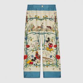Printed Silk Palazzo Pants by Gucci at Gucci