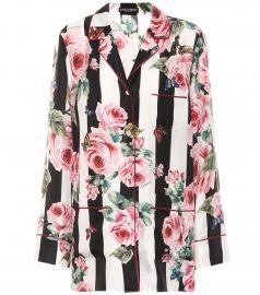 Printed Silk Pyjama Shirt by Dolce Gabbana at My Theresa