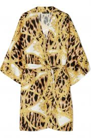 Printed Silk Robe by Versace at Net A Porter