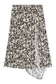 Printed Silk Skirt with Pleats at Stylebop