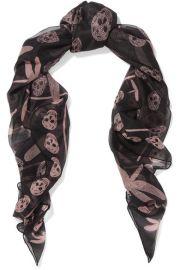 Printed Silk-chiffon Scarf by Alexander McQueen at Net A Porter