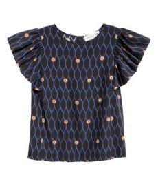 Printed Silk top at H&M