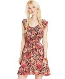 Printed Smocked Dress by American Rag at Macys