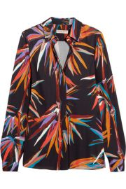 Printed Stretch-Jersey Shirt by Emilio Pucci at Net A Porter