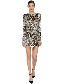 Printed Stretch Satin Mini Dress by Alexandre Vauthier at Luisaviaroma