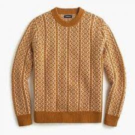 Printed Sweater at J. Crew