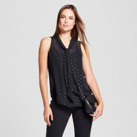 Printed Tie Neck Blouse by Target at Target