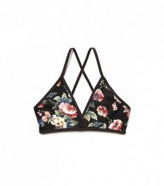 Printed Triangle Bralette at Free People