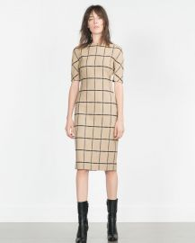 Printed Tube Dress at Zara