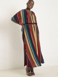 Printed V-Neck Maxi Dress at Eloquii