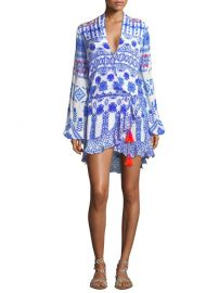 Printed V-neck Tassel dress by Rococo Sand at Saks Fifth Avenue