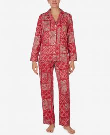 Printed Woven Pajama Set at Macys