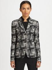 Printed blazer by Akris Punto at Saks Fifth Avenue