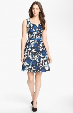 Printed blue dress at Nordstrom
