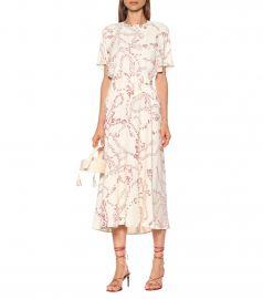 Printed cady midi dress at Mytheresa