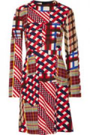 Printed cotton and silk-blend dress at The Outnet