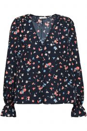 Printed crepe de chine blouse at The Outnet