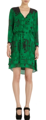 Printed crossover dress by Parker at Barneys Warehouse