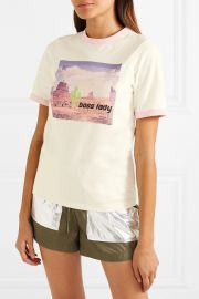 Printed jersey T-shirt at Net A Porter
