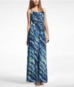 Printed maxi dress at Express