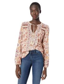 Printed peasant top at Amazon