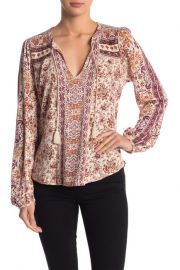 Printed peasant top at Nordstrom Rack