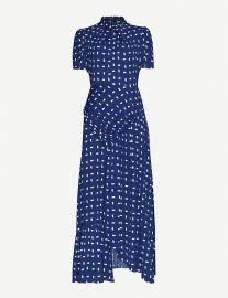 Printed ruched crepe maxi dress at Selfridges