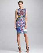 Printed sheath dress by Etro at Bergdorf Goodman
