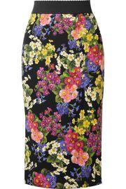 Printed silk-blend pencil skirt at Net A Porter