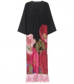 Printed silk-crêpe gown at Mytheresa
