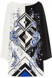 Printed silk-crepe mini dress at The Outnet
