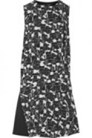Printed silk-georgette mini dress at The Outnet