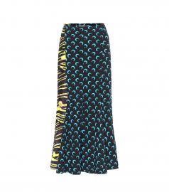 Printed stretch-jersey midi skirt at Mytheresa