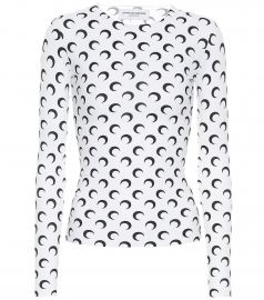 Printed stretch-jersey top at Mytheresa