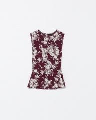 Printed top at Zara