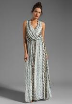 Printed wrap maxi dress by Ella Moss at Revolve