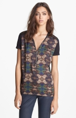 Printed zip front top by The Kooples at Nordstrom