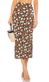 Privacy Please Kimmie Midi Skirt in White  amp  Red Rose from Revolve com at Revolve