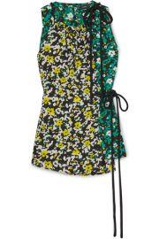 Proenza Schouler - Floral-print crepe top at Net A Porter