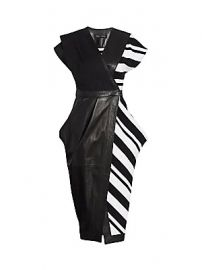 Proenza Schouler - Knit-Combo Leather Wrap Dress at Saks Fifth Avenue