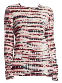 Proenza Schouler - Long-Sleeve Tie Dye Tissue Jersey Tee at Saks Fifth Avenue