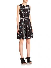 Proenza Schouler - Pleated Floral Crepe De Chine Dress at Saks Fifth Avenue