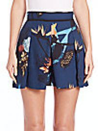 Proenza Schouler - Pleated Floral-Print Skort at Saks Off 5th