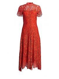Proenza Schouler - Printed Lace Mockneck Dress at Saks Fifth Avenue