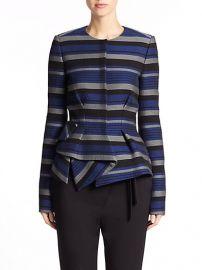 Proenza Schouler - Striped Crepe Peplum Jacket at Saks Fifth Avenue
