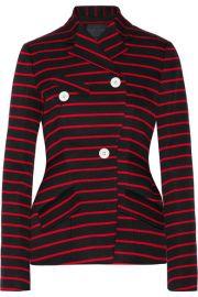 Proenza Schouler   Striped cotton and wool-blend jacquard blazer at Net A Porter