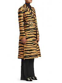 Proenza Schouler - Tiger Print Wrap Coat at Saks Fifth Avenue