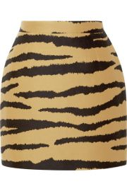 Proenza Schouler - Tiger-print wool and silk-blend jacquard mini skirt at Net A Porter