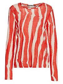 Proenza Schouler - Zebra Stripe Long Sleeve T-Shirt at Saks Fifth Avenue