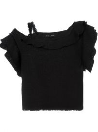 Proenza Schouler Asymmetric Tweed Top - L  39 espionne at Farfetch